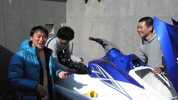 水上バイクメンテナンス
