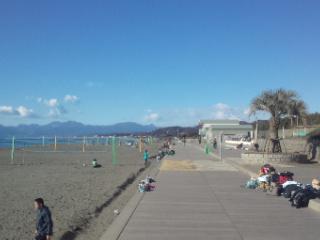 今日のビーチも