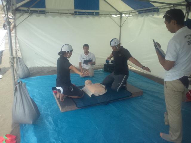 全日本大会、予選です。CPRコンテスト中。