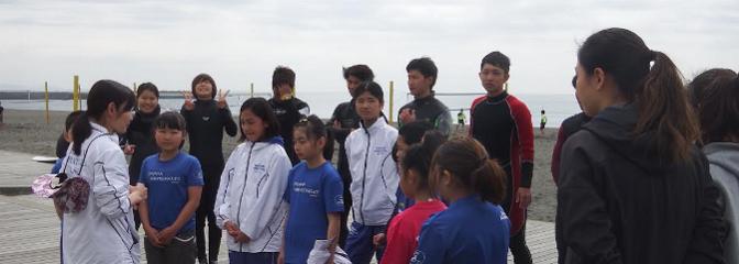 ジュニア活動:保護者説明会と海練習を行いました